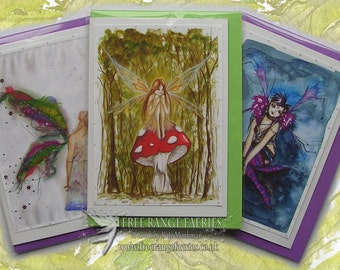 Bestsellers Handmade Glitter Fairy Card Pack