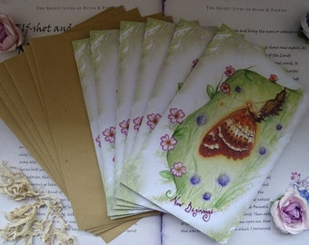 New Beginnings Card Pack ~  Pack of 6 cards