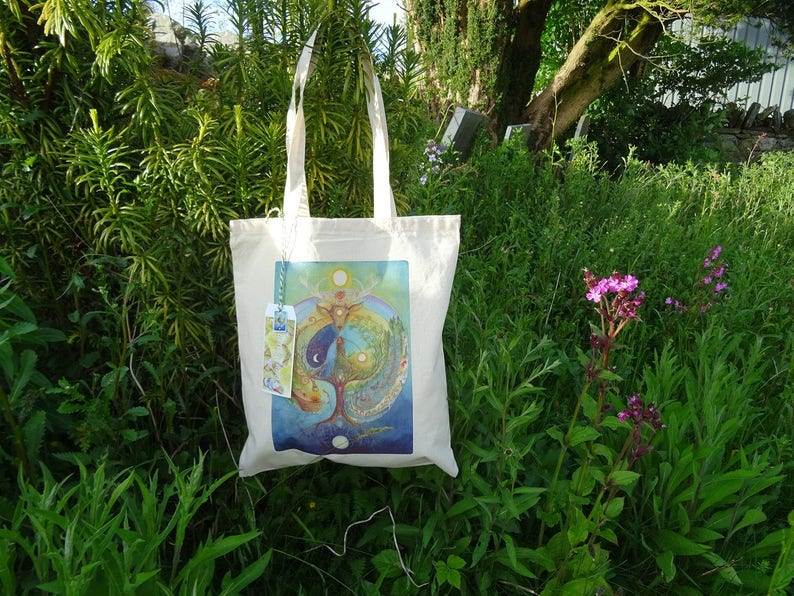 afb0de9f14 Tote Bag Shopping Bag Reusable Bag Cotton Bag Spiritual