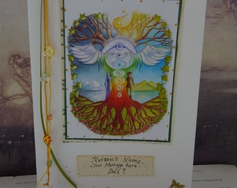 Special Personalised Wedding Card ~ World Tree