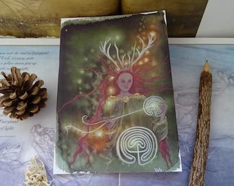 Elen of the ways ~ Path Weaver Goddess A5 Notebook
