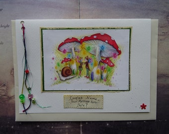 Special Personalised Wedding Card ~ Faerie Dance