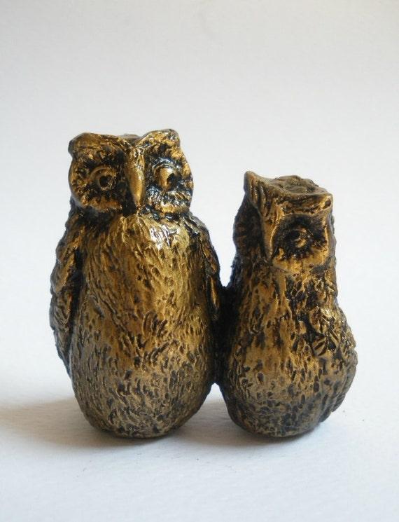 Owl Miniature Gold Paint