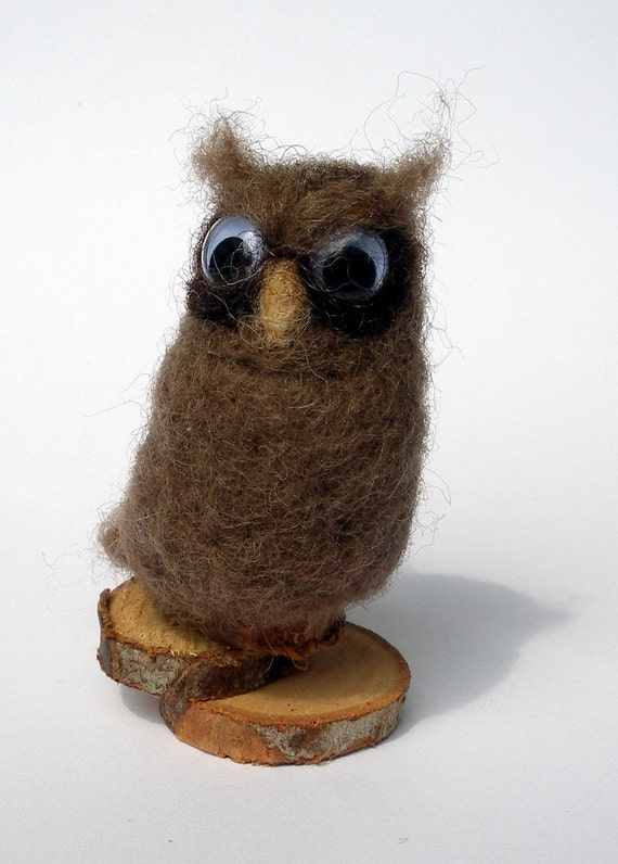 Needle Felted Owl Googly Eyes