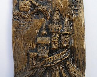 Owl on Tree Castle - Bronze