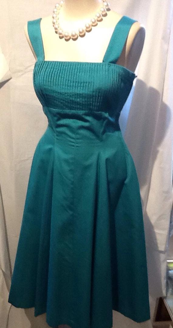 50's Turquoise Sun Dress