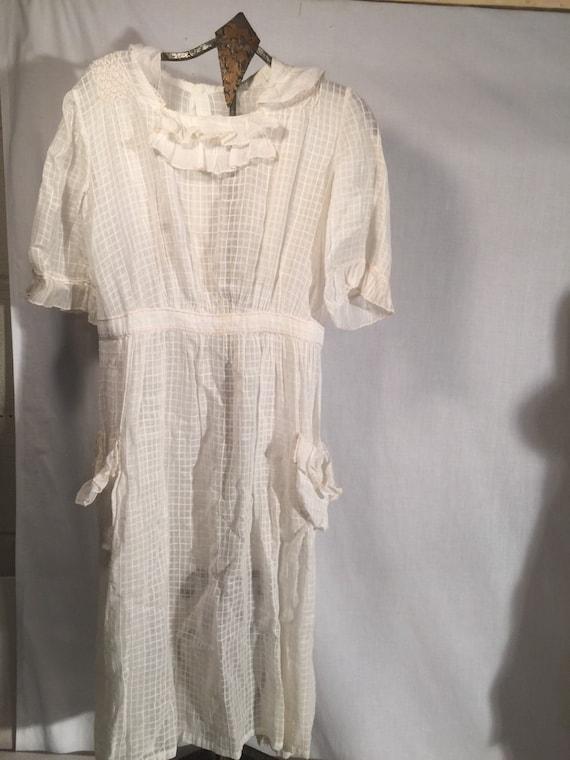 Childs 1910-20's Cotton Dress Flower Girl Wedding