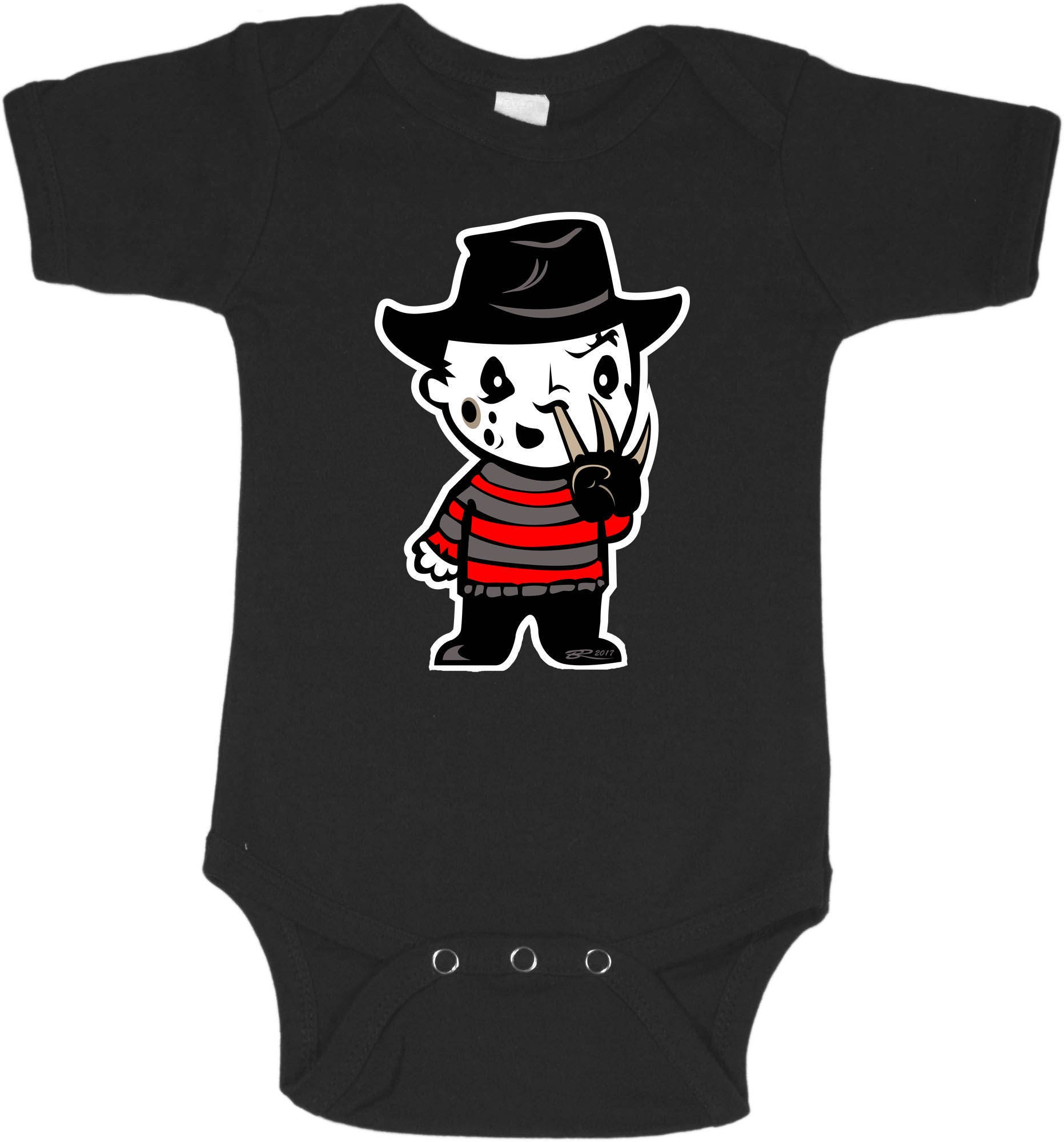 next day shipping - halloween baby clothing - freddy krueger