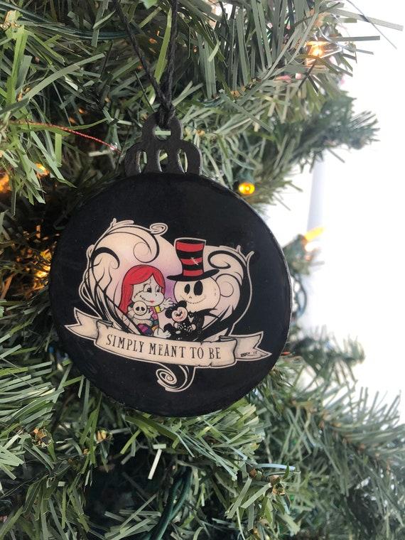 Jack and Sally Ornament Vine Heart Ornament