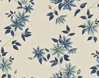 ID No.84 Designer 2,25M Sanderson Wisley Linen Floral Fabric Curtain Upholstery Crafts