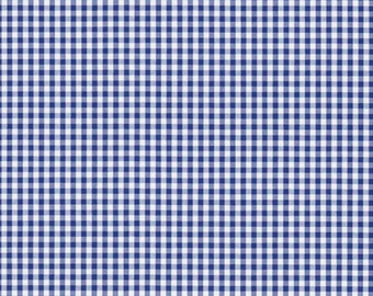 ID No.85 Designer 4M or 5M Sanderson Whitby Marine Cotton Gingham Check Fabric Curtain Upholstery Crafts