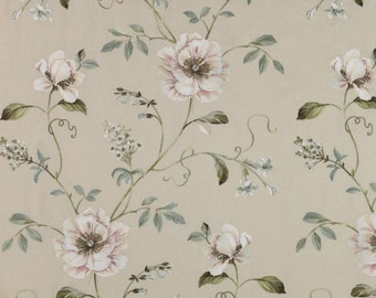 ID No.94 & 95 Designer 2M Colefax Fowler Evesham floral embroidery linen upholstery curtain pillow cushion craft fabric