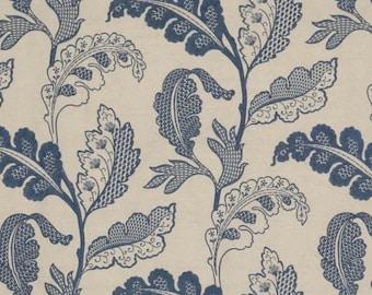 ID No.61 Designer 1,45M Colefax & Fowler Blue Arbor Embroidery Linen Cotton Floral Fabric