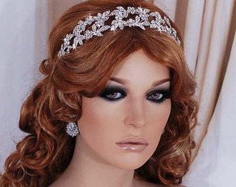 Bridal Headpiece Wedding Crystal Wreath Accessory Head Piece Band Brides  Hair Accessories Weddings Floral Headband Bride Jewelry Party Gift ce1baf074c32