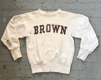 184b9c67c50d Vintage 1950 s Brown University Champion Running Man Sweatshirt
