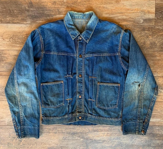 Vintage 1940's Type 1 Denim Trucker Jean Jacket