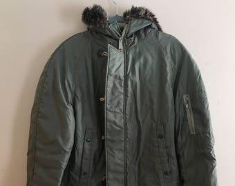 Vintage Sears Sportswear Bomber Hooded Parka Jacket