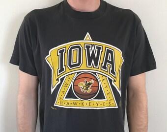 finest selection 77d99 b246e 1988 NCAA Iowa Hawkeyes Basketball Graphic T-Shirt
