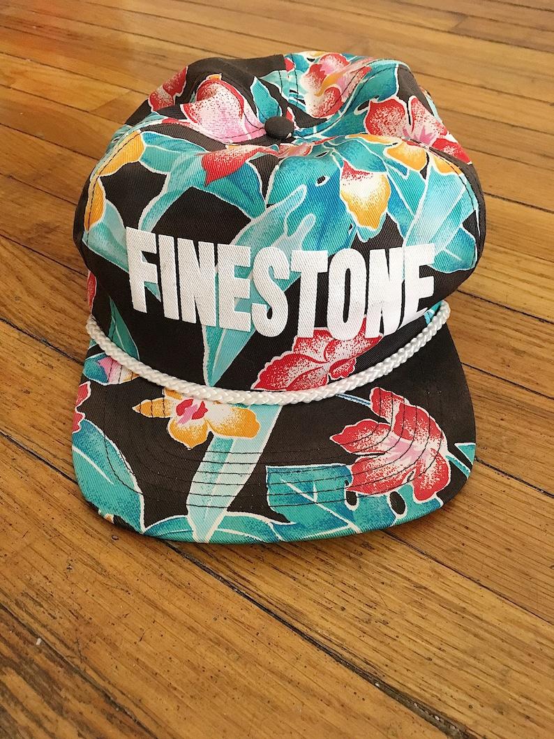 daead619450 Retro 80s Finestone Floral All Over Print Snapback Hat