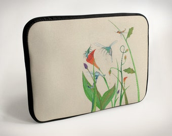 Insects - flowers - Laptop Case - Laptop Bag - Laptop Sleeve