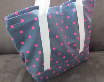 FREE SHIPPING Always - Easy tote bag downloadable PDF pattern, knitting bag pattern, gym bag pattern, beach bag pattern.