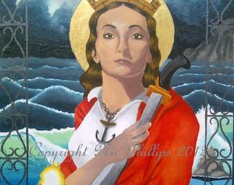 Saint Barbara (prints and cards)