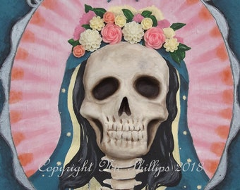 Santa Muerte cameo (prints and cards)