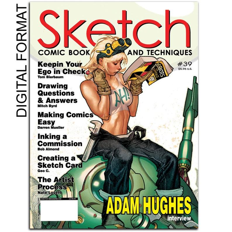 Sketch Magazine 39 How To Create Comic Book Magazine Digital Etsy