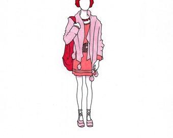 Princess Leia A4 fashion illustration ORIGINAL