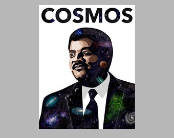 "Cosmos Print – Neil deGrasse Tyson Print – 8.5"" by 11"" Print"