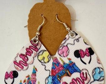 Home castle dangle earrings