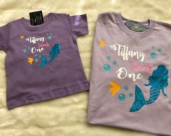 Mermaid Birthday Shirt One Year Old Under The Sea