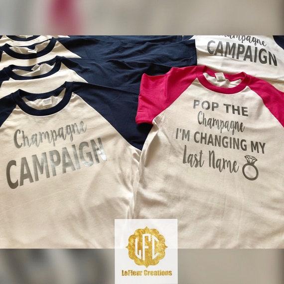 2abd3aba22 Pop the Champaign Last Name-Champagne Campaign | Etsy