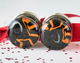 "Halloween Gauges, Plugs and Tunnels, Ear Gages, Ear Plugs - size 9/16"" (14mm)"