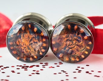 "9/16 Plugs, 14mm Gauges, 9/16 Gauge, 14mm Gauges Double Flare - size 9/16"" (14mm)"