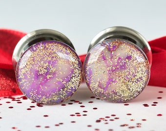 "9/16 Double Flare Plugs, 14mm Plugs, Polymer Clay Plugs, Dragon Plugs, Gauged Earrings - size 9/16"" (14mm)"