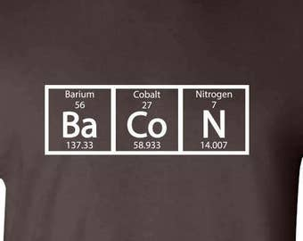 Bacon Chemistry Funny Science Mens T-shirt Dark Chocolate