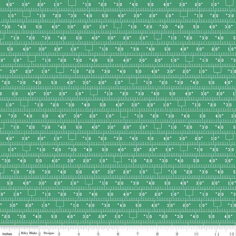 Green Football Field Fabric from Varsity by Deena Rutter for image 0