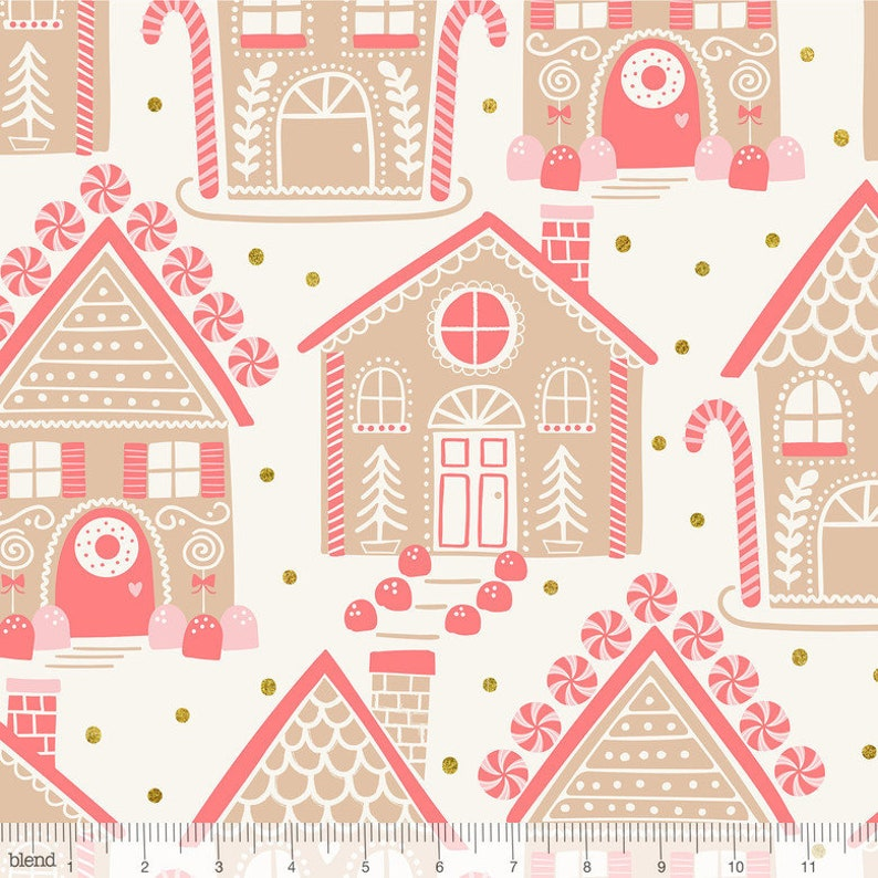 Gingerbread Lane Fabric from Kringle's Sweet Shop by Maude image 0