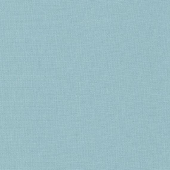 K001-444 Dusty Blue Solid Fabric Sold in Half Yard Increments Kona Cotton in Fog