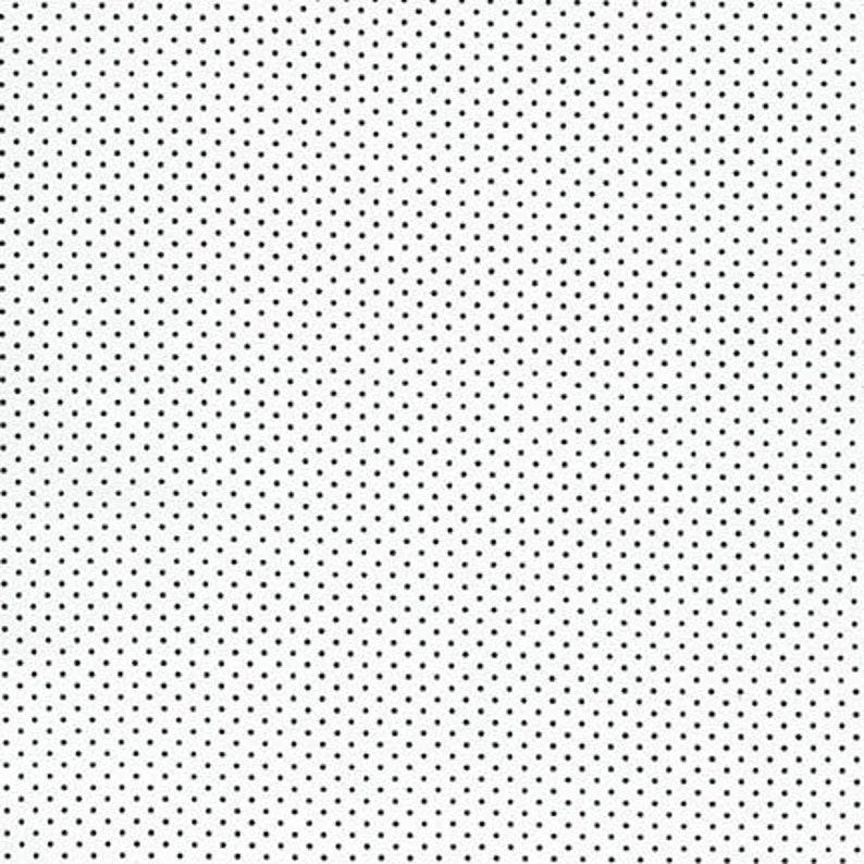 Black Tiny Dots on White Fabric  Sevenberry Petite Basics image 0