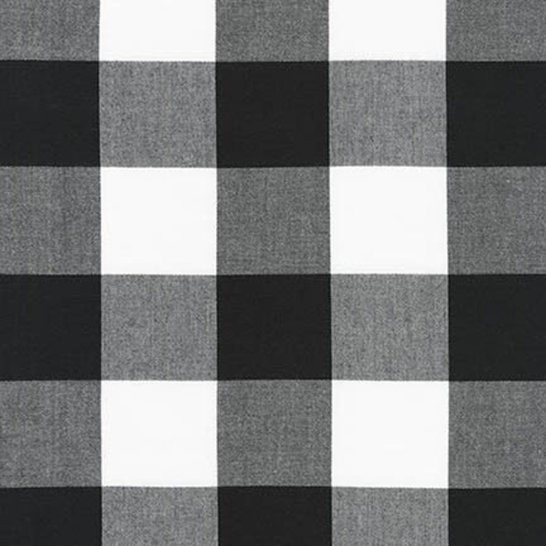 END-OF-BOLT 21x44  Black and White Two Inch Plaid image 0