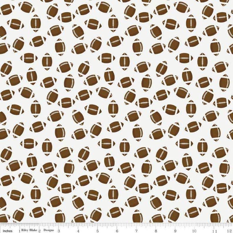 Football Fabric from Varsity by Deena Rutter for Riley Blake image 0
