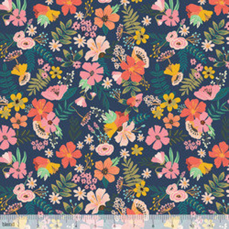 Floral Fabric Gardenara Navy from Floral Pets by image 0