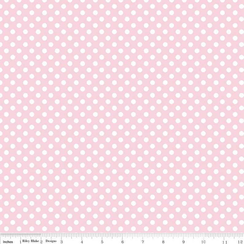 END-OF-BOLT 23x43 inches  Baby Pink Small Dot image 0