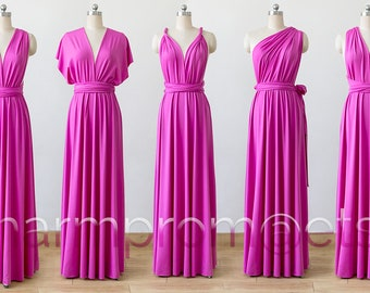 hot pink Maxi Infinity Dress 752a5ebbfb50