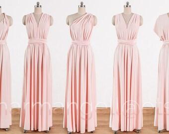 Blush pink Maxi Infinity Dress a51a0dbfb224
