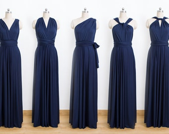 a64ddf64245 Navy Blue Maxi Infinity Dress