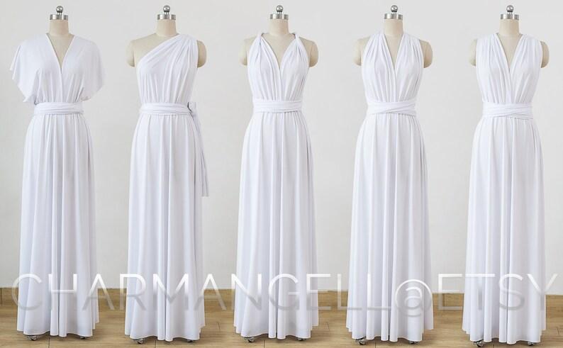 6f5e0ae16a0f4 White Maxi Infinity Dress Convertible Bridesmaid Dress cheap
