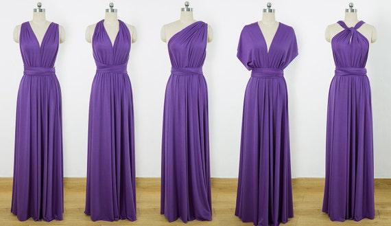 Purple Maxi Infinity Dress Convertible Bridesmaid Dress Etsy